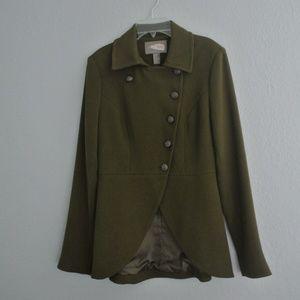 Love 21 Army Green Pea Coat sz S